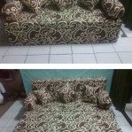 Sofa bed Busa Super Abstrak Coklat 160