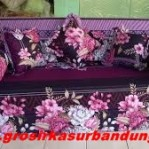 Sofa bed Busa Super Abstrak Bunga 160