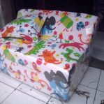 Sofa Bed Busa Biasa Motif Animal 90