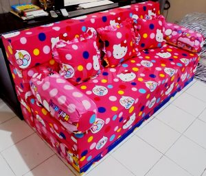 Sofa Bed Busa Super Motif Hello Kitty 18020