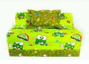Sofa Bed Busa Biasa Motif Keroppi 90