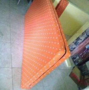 Kasur Busa Super 10014 Motif Polkadot Orange