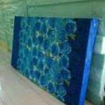 Kasur Busa Super 12014 Motif Bunga Biru