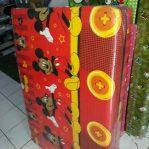 Kasur Busa Lipat Jumbo Ukuran 120x180x8 Motif Mickey Merah