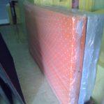 Kasur Busa Super Ukuran 120x200x20 Motif Polkadot Orange