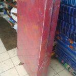 Kasur Busa Lipat 2 Kain Spring Bed Ukuran 140x180x10 Warna Merah Maroon
