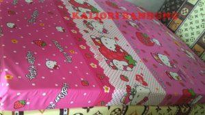 Kasur Busa Super Ukuran 160x200x14 Motif Hello Kitty Pink
