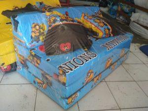 Sofa Bed Busa Biasa Motif Minion Biru 120x180x10