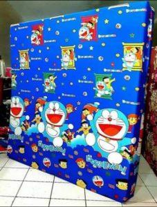 Kasur Busa Super Ukuran 140x200x20 Motif Doraemon Biru