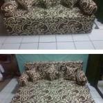 Sofa bed Busa Super Abstrak Coklat 160