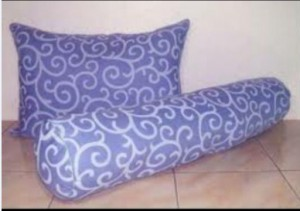 Bantal Silicon Abstrak Biru