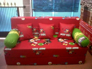 Sofa bed Busa Super Angry Birds 160