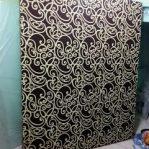 Kasur Busa Super 18014 Motif Abstrak Tralis Coklat