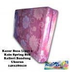 Kasur Busa Lipat 2 Kain Spring Bed Ukuran 140x180x10