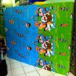Kasur Busa Super Ukuran 160x200x14 Motif Doraemon Hijau