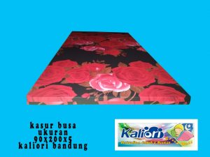 Kasur Busa Single Ukuran 90x190x5 Motif Bunga Rose