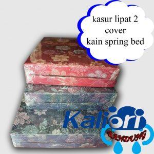 Kasur Busa Lipat 2 Kain Spring Bed Ukuran 120x180x10