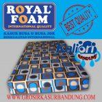 Kasur Busa Royal 200x140x14 Motif Abstrak Kotak Polkadot