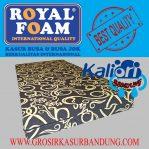 Kasur Busa Royal Foam Ukuran 120x200x20 Motif Tralis Coklat