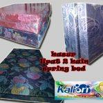 Kasur Busa Lipat 2, Cover Kain Spring Bed, Ukuran 120x180x10