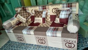 Sofa Bed Busa Super, Ukuran 160x200x20 Motif Gucci