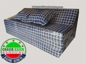 Sofa Bed Biasa Ukuran 120x180x10 Motif Kotak
