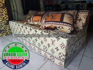 Sofa Bed Biasa Ukuran 120x180x10 Motif LV