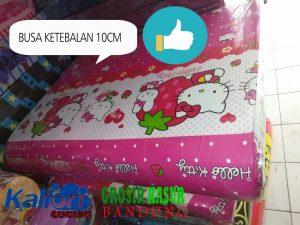 Kasur Busa Lipat Jumbo Tebal 10cm 90×180 Motif Hello Kitty