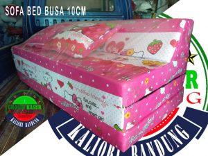 Sofa Bed Busa Biasa Ukuran 120x180x10 Hello Kitty