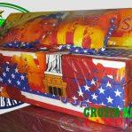 Sofa Bed Busa Biasa Ukuran 120x180x10 Motif USA