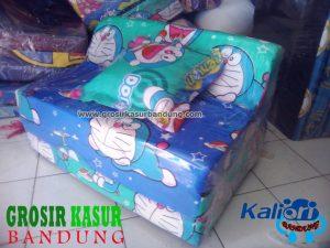 Sofa Bed Busa Biasa Ukuran 90x180x10 Motif Doraemon